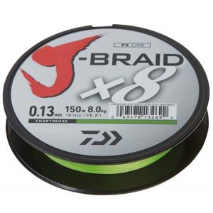 Daiwa J-Braid X8 150 m Chartreuse