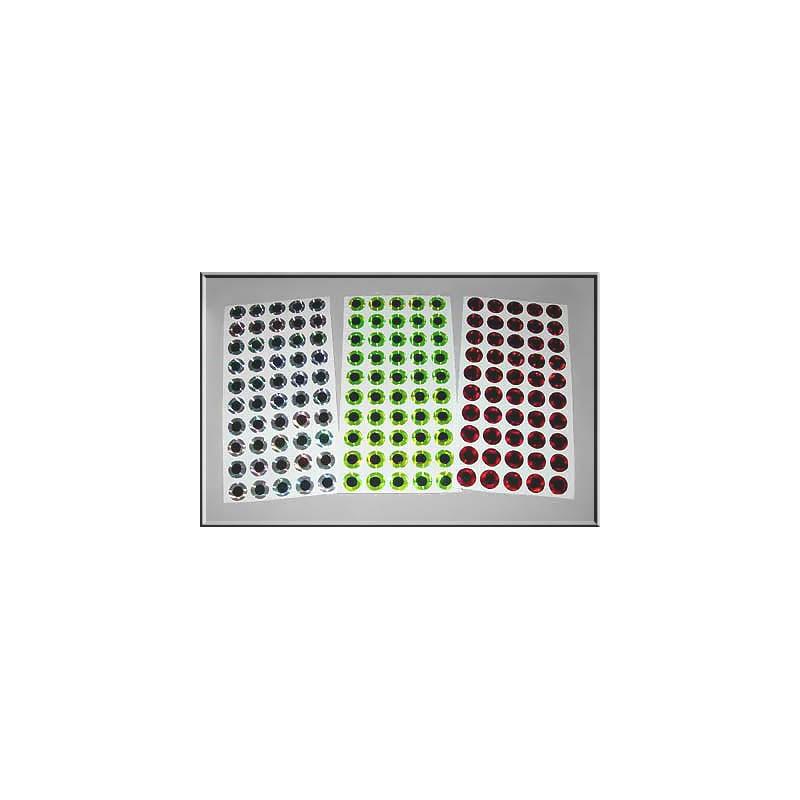 Holografiska platta ögon, 8 mm