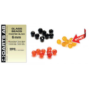 Darts Glass Beads Faceted Red