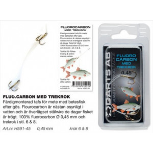 Darts Fluorocarbon with treble hook
