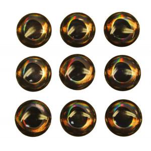 3-D Ögon 13 mm 18 st Grön / Grå
